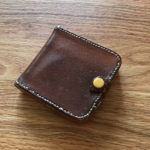 Vintage leather wallet brown leather